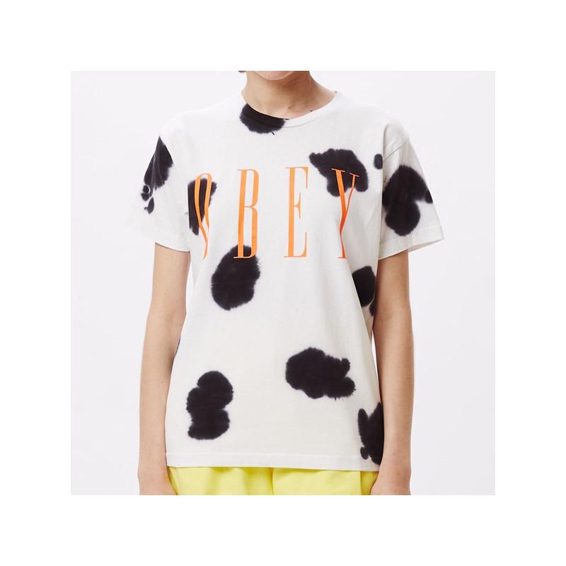 Camiseta Obey: Obey new (White cow)