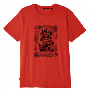 Camiseta Obey: Obey press etching (Rio red)