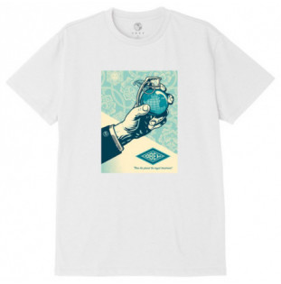 Camiseta Obey: Obey royal treatment (White)