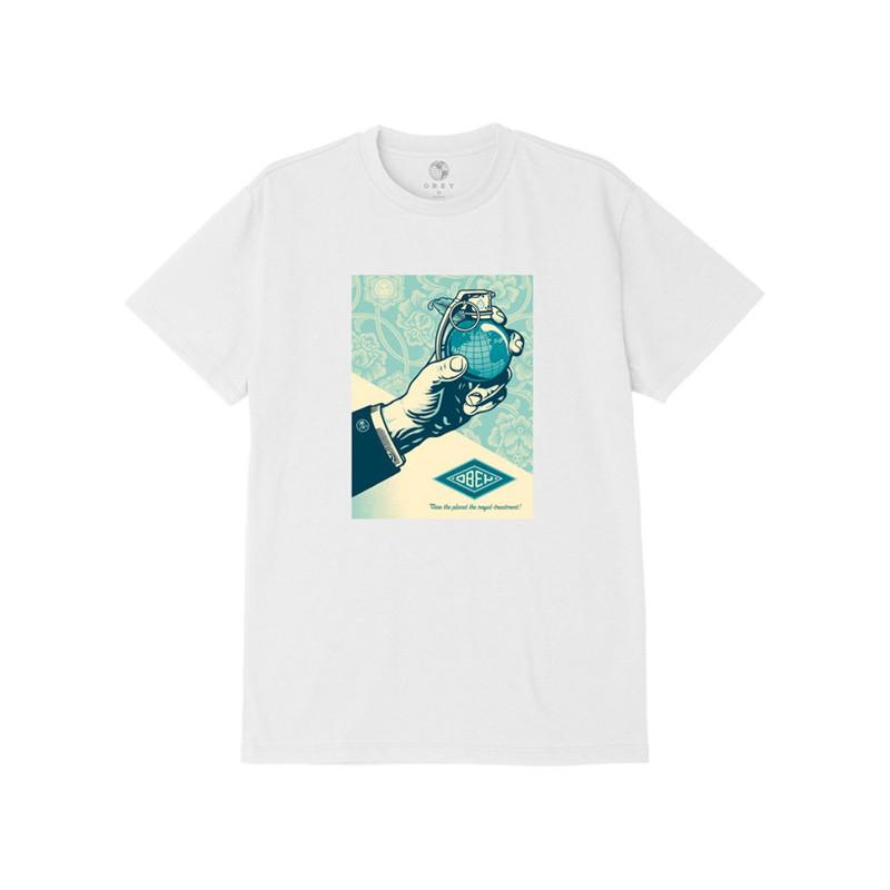 Camiseta Obey: Obey royal treatment (White)