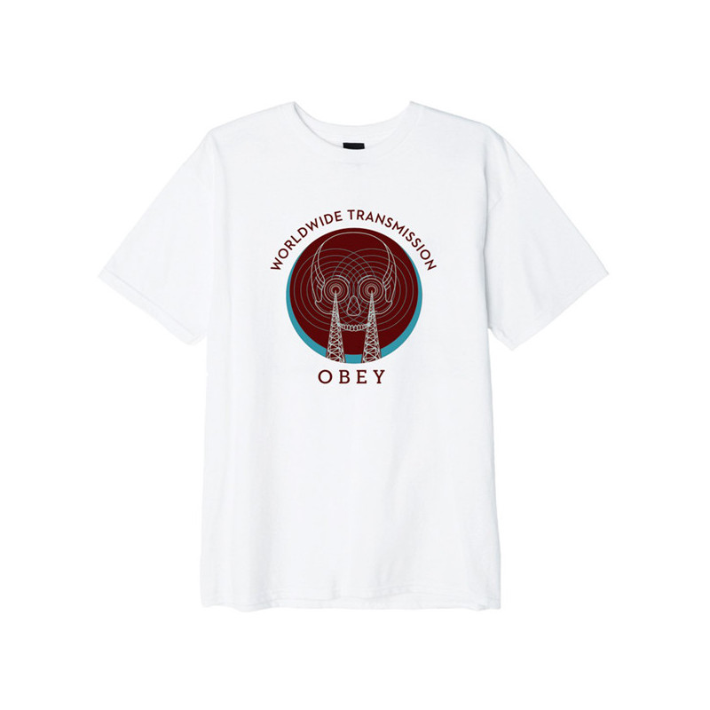 Camiseta Obey: Obey transmission (White)