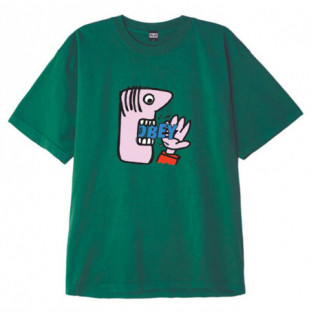 Camiseta Obey: Still hungry (Bright jade) Obey - 1