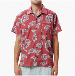 Camisa Obey: Domain woven (Cassis multi)