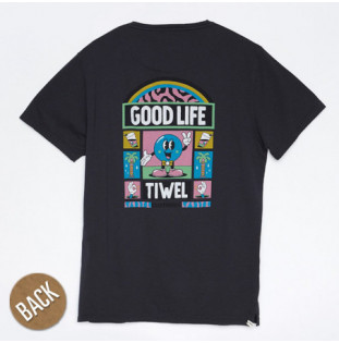 Camiseta Tiwel: GOOD LIFE YEYE WELER (PIRATE BLACK) Tiwel - 1
