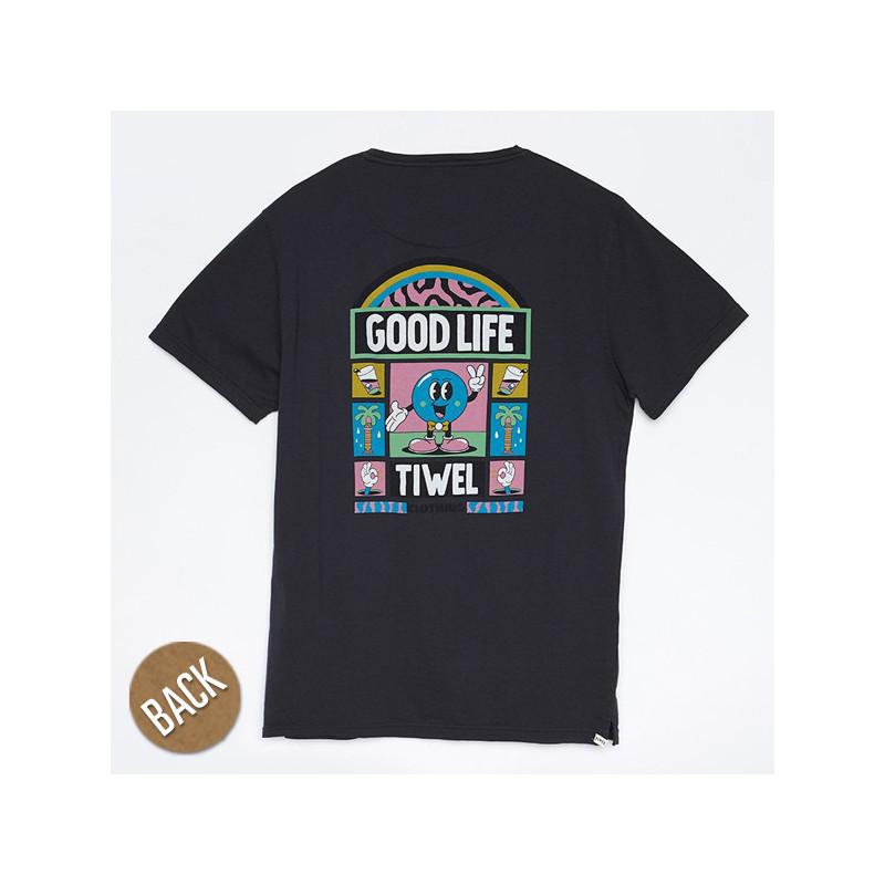 Camiseta Tiwel: GOOD LIFE YEYE WELER (PIRATE BLACK)