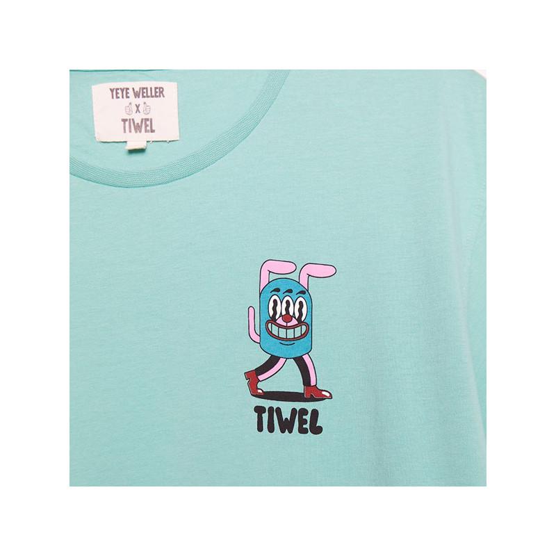 Camiseta Tiwel: NEWA YEYE WELER (JADE CREAM)