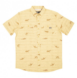 Camisa Salty Crew: Horizon SS UV (Yellow)