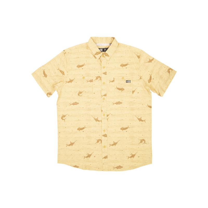 Camisa Salty Crew: Horizon SS UV (Yellow)