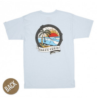 Camiseta Salty Crew: Portside SS (Light Blue)