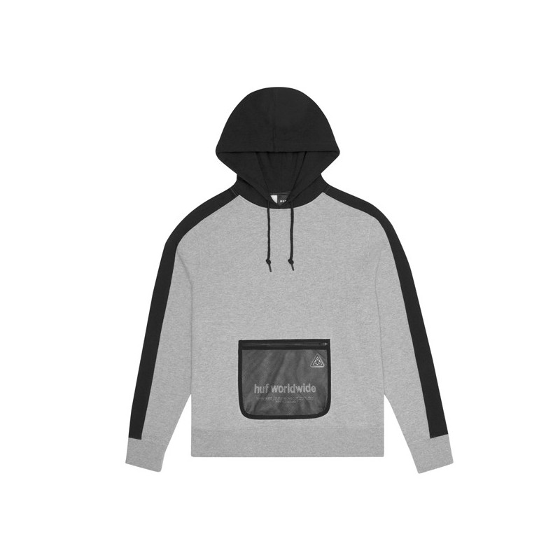 Sudadera HUF: EXPO PO HOODIE (GREY HEATHER)