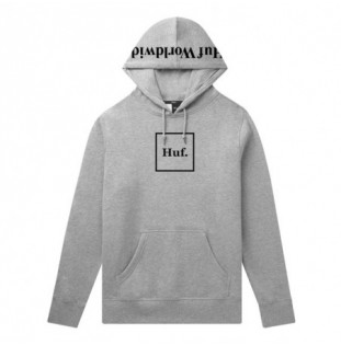 Sudadera HUF: BOX LOGO PO HOODIE (GREY HEATHER)