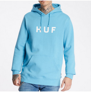 Sudadera HUF: ESSENTIALS OG LOGO PO HOODIE (GREEK BLU)