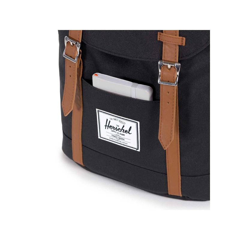 Mochila Herschel: Retreat (Black Tan Synthetic Leather)
