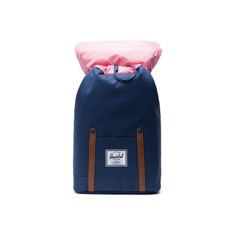 Mochila Herschel: Retreat (Navy Tan Synthetic Leather)