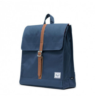 Mochila Herschel: City Mid Volume (Navy Tan Synth Leather) Herschel - 1