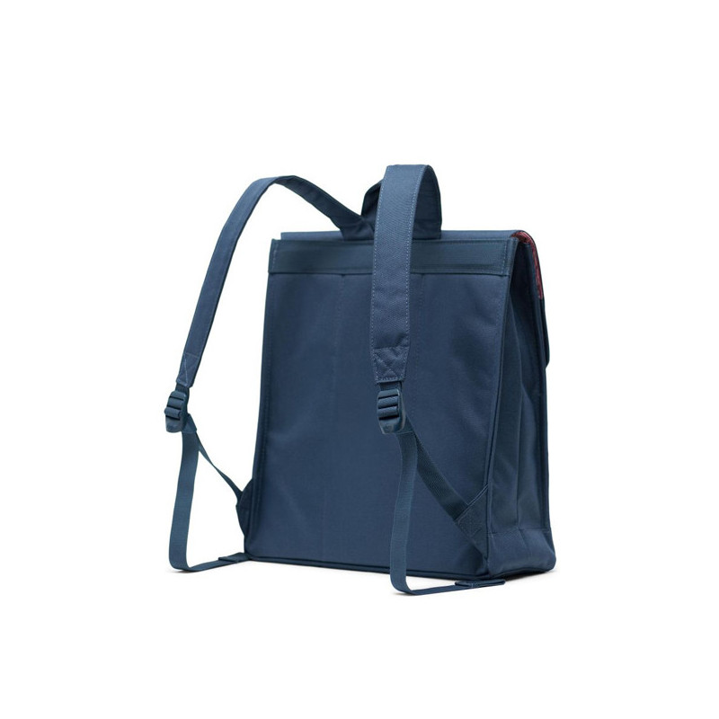 Mochila Herschel: City Mid Volume (Navy Tan Synth Leather)