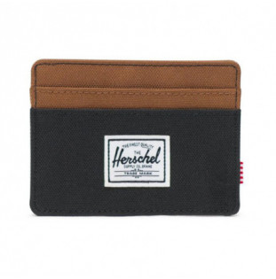 Cartera Herschel: Charlie RFID (Black Saddle Brown)