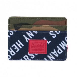 Cartera Herschel: Charlie RFID (Roll Call Pea Wood Camo)