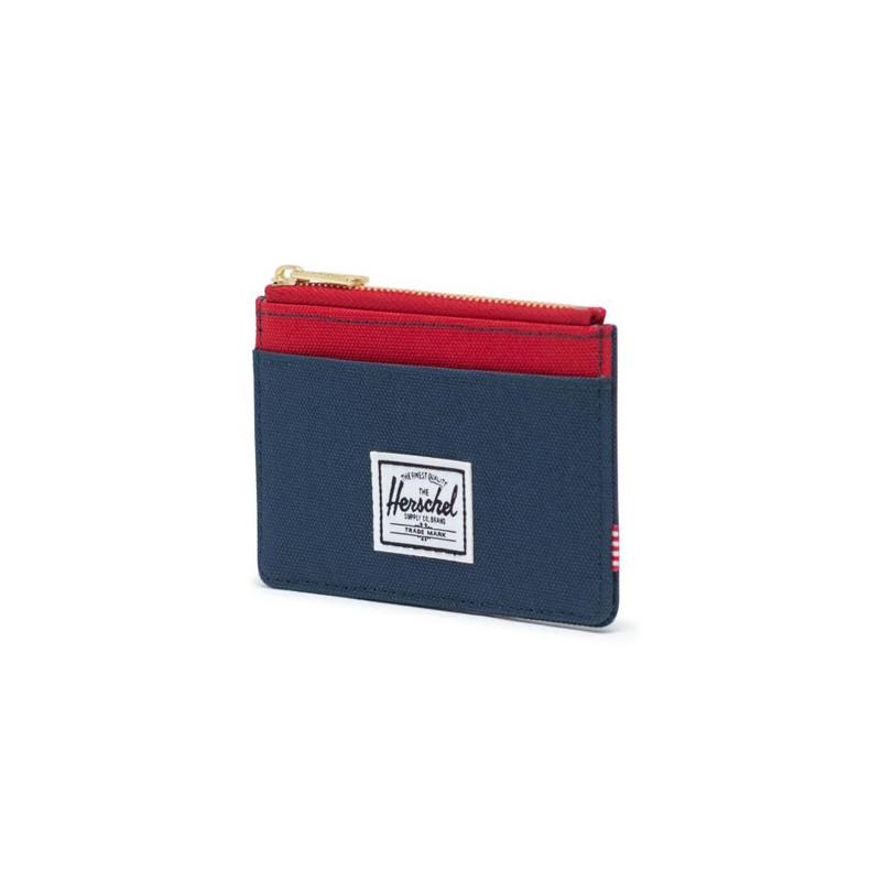 Cartera Herschel: Oscar RFID (Navy Red)