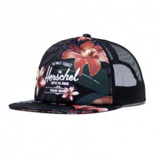 Gorra Herschel: Whaler Mesh (Summer Floral Black White)