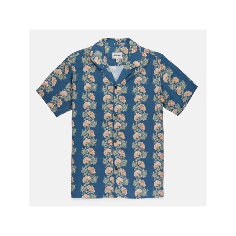 Camisa Rhythm: HONOLULU SS SHIRT (Pacific blue)
