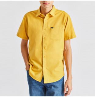 Camisa Brixton: CHARTER OXFORD SS WVN (SUYEL)