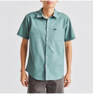 Camisa Brixton: CHARTER OXFORD SS WVN (JADE)