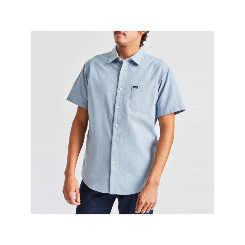 Camisa Brixton: CHARTER OXFORD SS WVN (LBLCH)