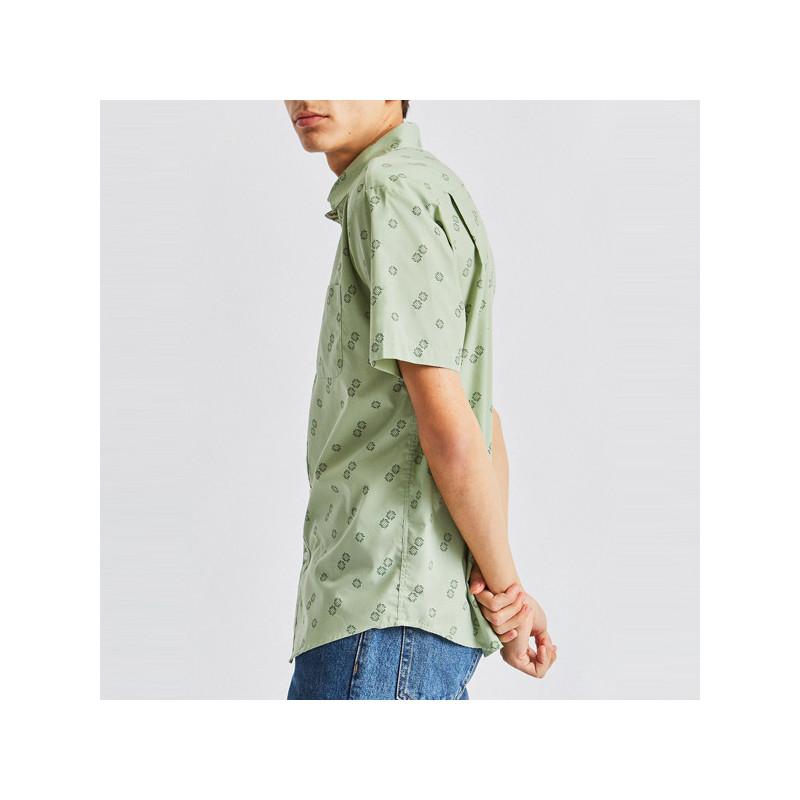 Camisa Brixton: CHARTER PRINT SS WVN (BASIL)