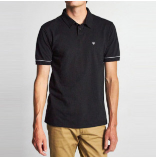 Polo Brixton: CARLOS SS POLO KNIT (BLACK) Brixton - 2