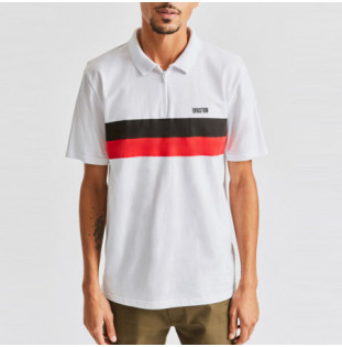 Polo Brixton: BROCKTON 14 ZIP POLO (WHITE) Brixton - 1