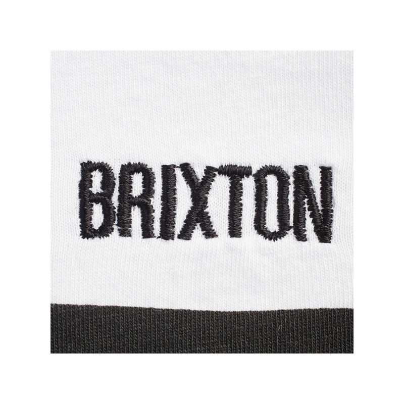 Polo Brixton: BROCKTON 14 ZIP POLO (WHITE)