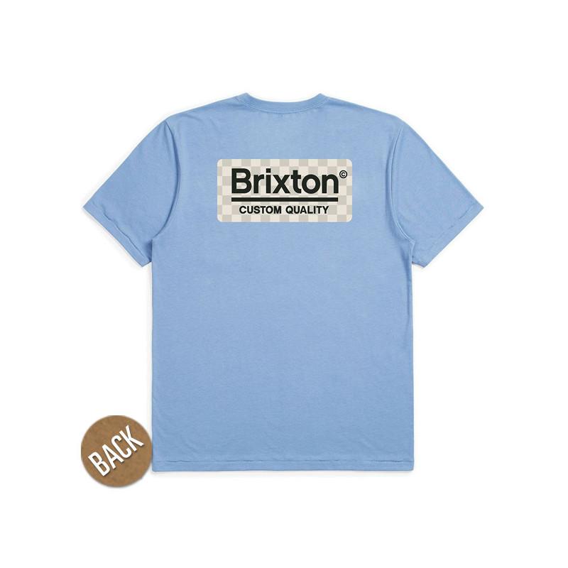 Camiseta Brixton: PALMER SS PREM TEE (SLBLU)