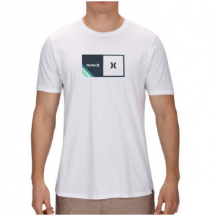 Camiseta Hurley: HALFER STRIPE SS (WHITE)