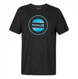 Camiseta Hurley: CIRCLE DYE LOGO SS (BLACK HEATHER)