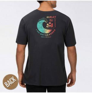 Camiseta Hurley: BNZ GET SHACKED SS (DK SMOKE GREY)