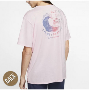 Camiseta Hurley: BNZ GET SHACKED SS (PINK FOAM)