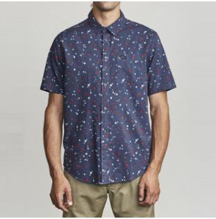 Camisa RVCA: CALICO SS (MOODY BLUE)