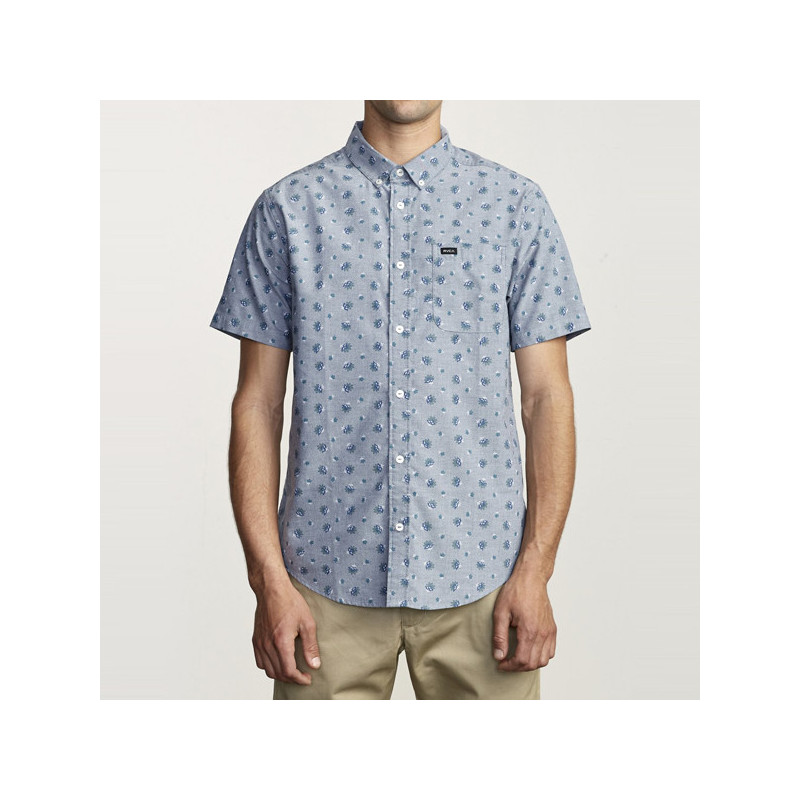 Camisa RVCA: THATLL DO PRINT SS (DISTANT BLUE)