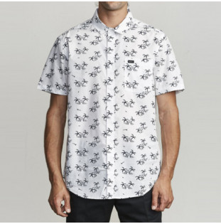 Camisa RVCA: EASY PALMS SS (ANTIQUE WHITE) RVCA - 1