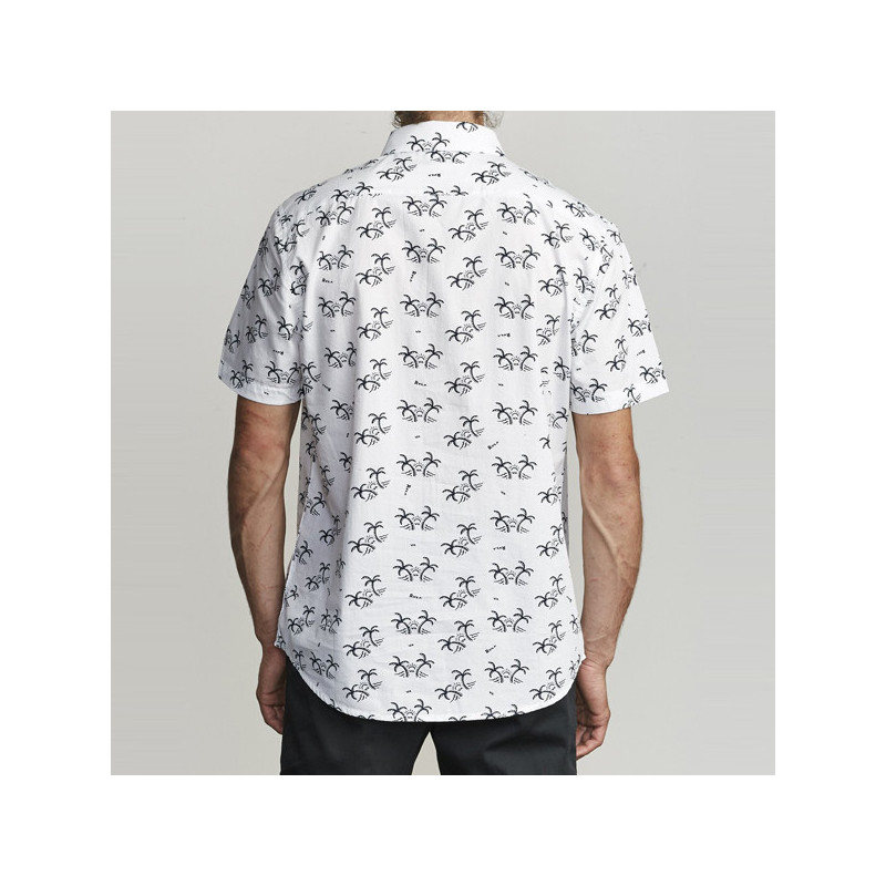 Camisa RVCA: EASY PALMS SS (ANTIQUE WHITE)