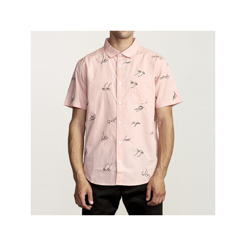Camisa RVCA: JOHANNA GESTURES SS (PINK)
