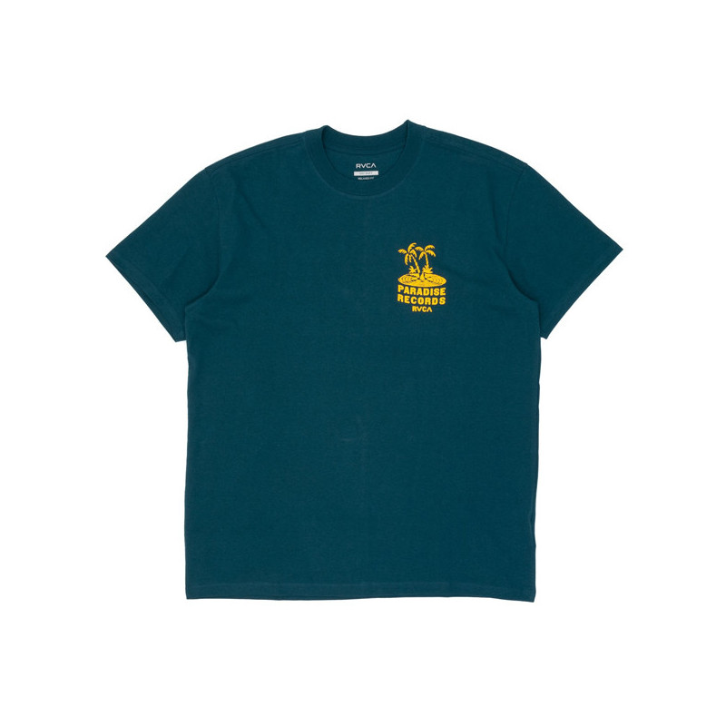 Camiseta RVCA: PARADISE RECORDS SS (DEEP SEA)
