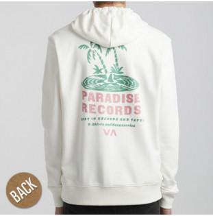 Sudadera RVCA: PARADISE RECORDS HOO (ANTIQUE WHITE)