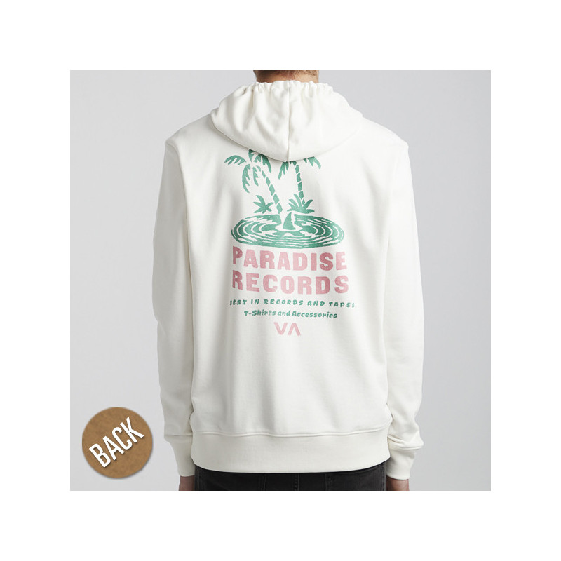 Sudadera RVCA: PARADISE RECORDS HOO (ANTIQUE WHITE)
