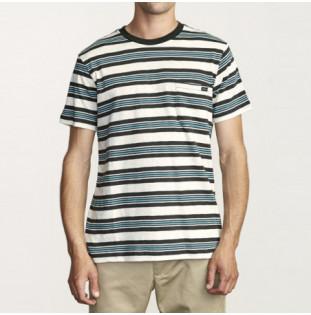 Camiseta RVCA: DAMIAN SS CREW (SILVER BLEACH) RVCA - 1