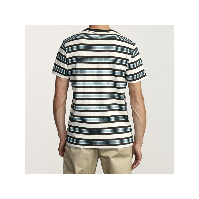 Camiseta RVCA: DAMIAN SS CREW (SILVER BLEACH)