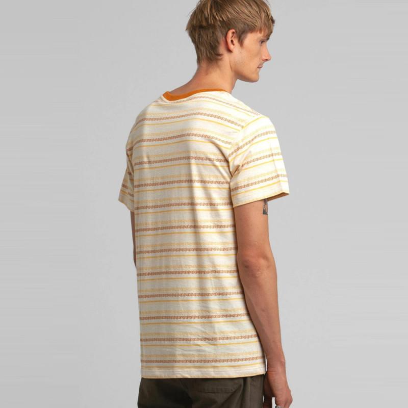 Camiseta Rhythm: JACQUARD STRIPE TSHIRT (Vintage yellow)