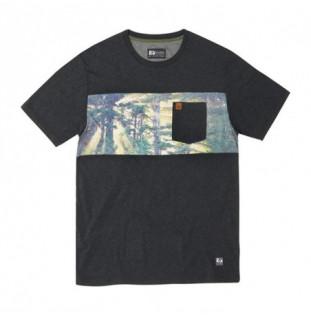 Camiseta Hippytree: Backwoods Knit Tee (Heather Black)