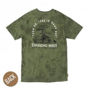 Camiseta Hippytree: Perception Cloud Wash Tee (Army) Hippytree - 1